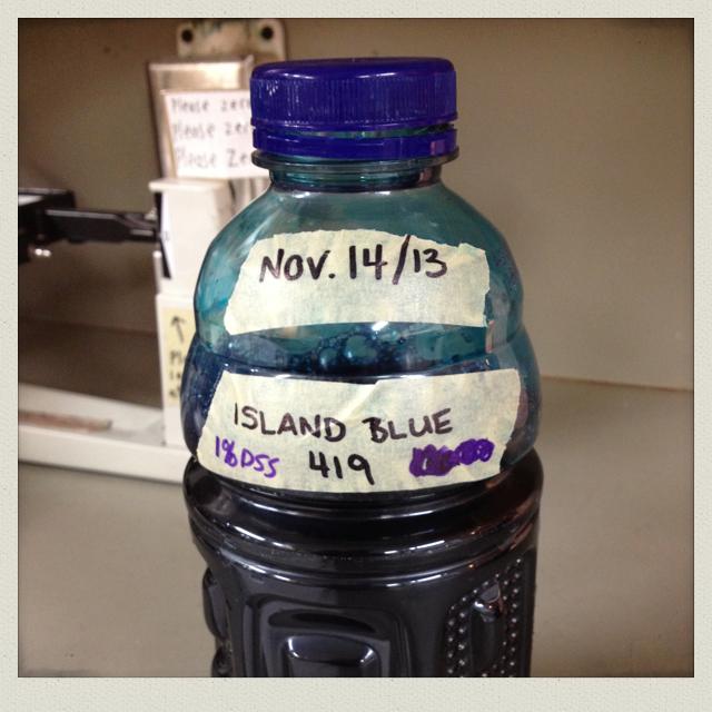 Acid dye - island blue
