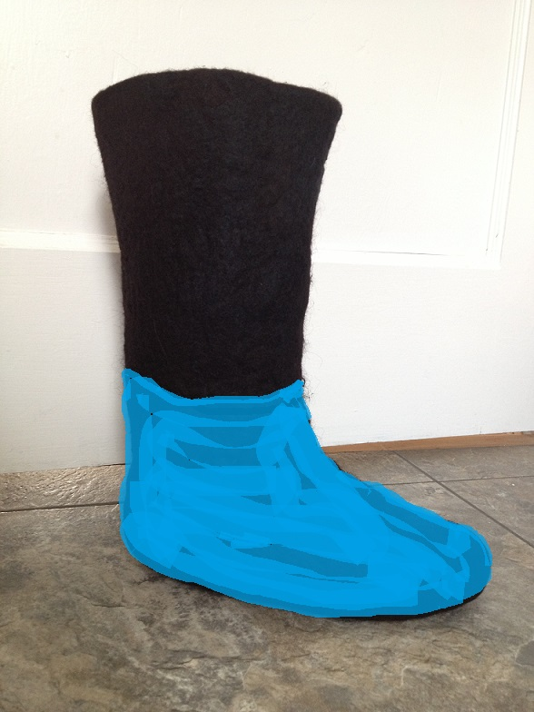 Black boots_blue to mid ankle