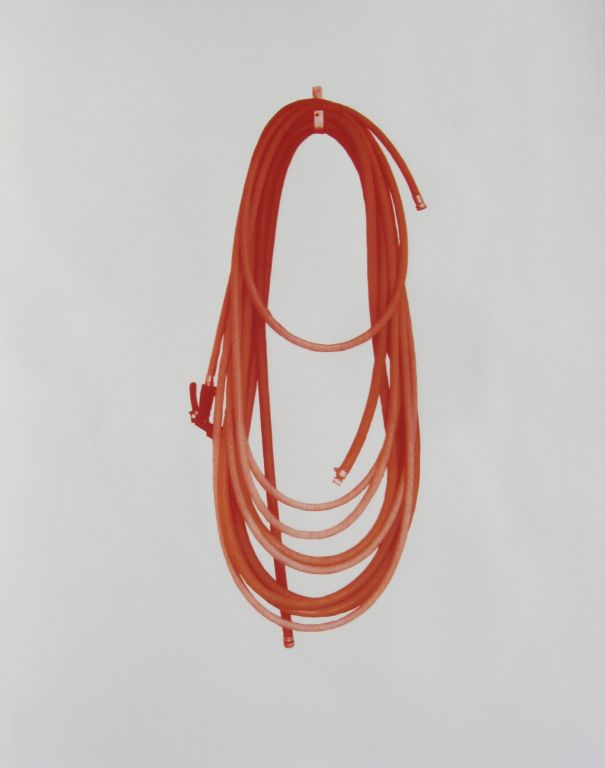 Cherry loops, silkscreen on paper, 30 x 22 in
