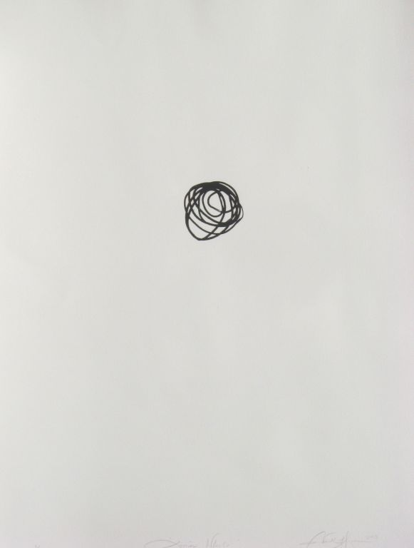 Licorice wheels, silkscreen on paper