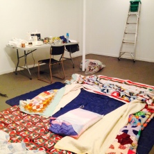 Unpacking at Struts Gallery today.