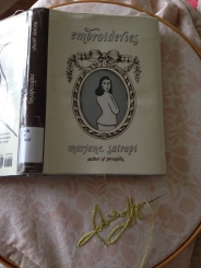 """I was reading the graphic novel """"Embroideries"""" by M. Satrapi at the time I was making this addition to the research."""