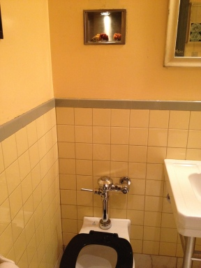 ...over the loo at Cafe Gatane