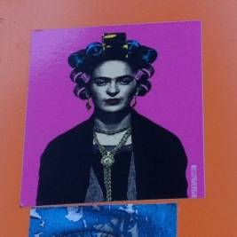 Frida in rollers..