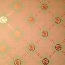 The wallpaper from our bunk room