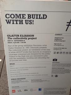 Olafur Eliasson's piece on the Highline