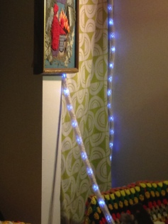LOVE the knit cover for these string lights!