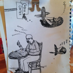 Found drawing at Cabin Coffee