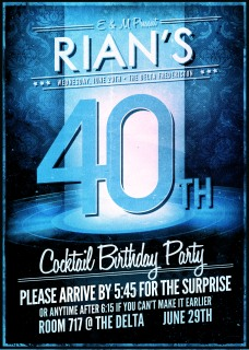 Rian's 40th Invitation