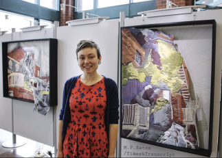 Green and her AMAZING textile drawings