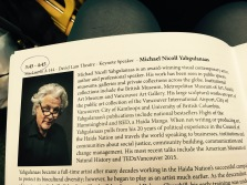 CSEA keynote delivered by the gifted Michael Nicoll Yahgulanaas