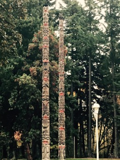 Totems on campus at UVic