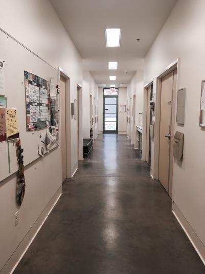 MFA studio hall, at UVIC
