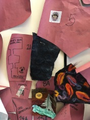 A quilt, in progress, by the ART HIVE, it is a map of the University of Victoria and The GAG is going to complete the visual arts bldg section.