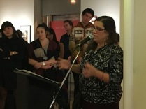 The wonderful Valerie Salez speaking at the Legacy Gallery during the opening of IN DEFIANCE