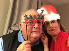 My Dad and I having some holiday fun!
